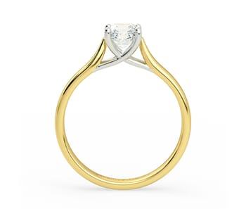 Solitaire Diamond Engagement Ring in 18K Yellow Gold