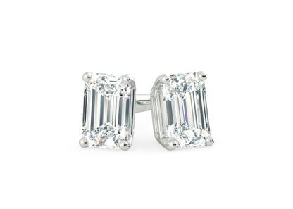 18K White Gold setting for Emerald diamonds