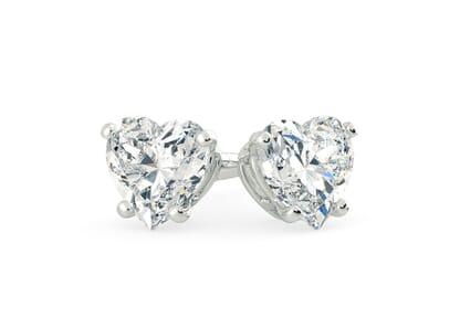 18K White Gold setting for Heart diamonds