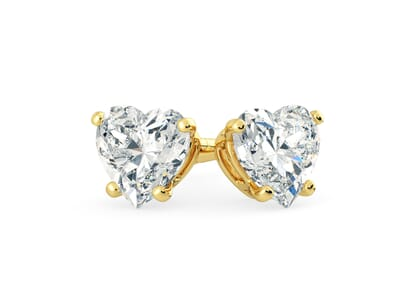 18K Yellow Gold setting for Heart diamonds