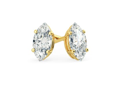 18K Yellow Gold setting for Marquise diamonds