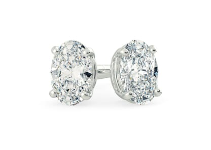 Platinum setting for Oval diamonds