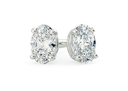 18K White Gold setting for Oval diamonds