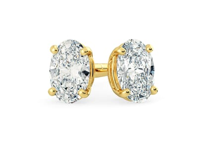 18K Yellow Gold setting for Oval diamonds
