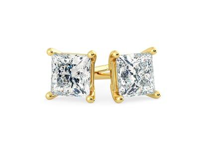 18K Yellow Gold setting for Princess diamonds