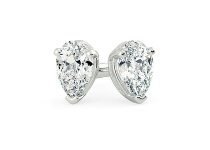 18K White Gold setting for Pear diamonds