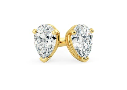 18K Yellow Gold setting for Pear diamonds