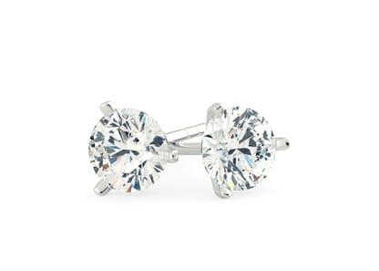 18K White Gold setting for Round Brilliant diamonds