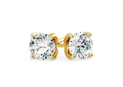 18K Yellow Gold setting for Round Brilliant diamonds