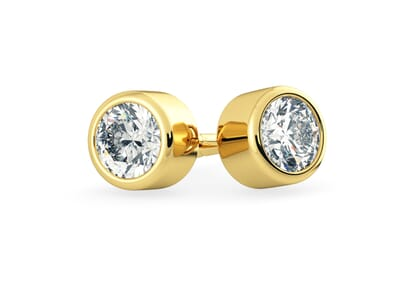 18K Yellow Gold setting for Round Brilliant diamonds