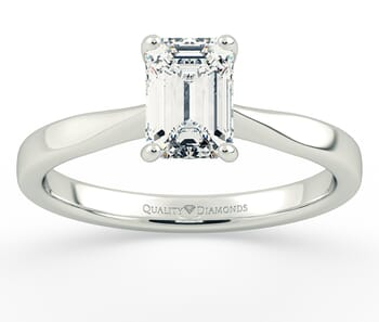 Solitaire Diamond Engagement Ring in Palladium