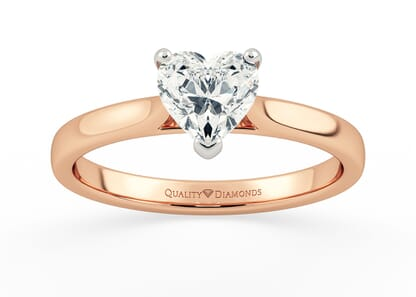 HEART CLARA in 18K ROSE GOLD