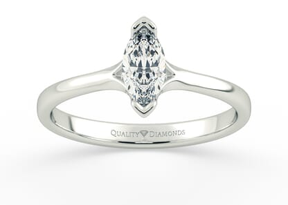 MARQUISE KALILA in 18K WHITE GOLD