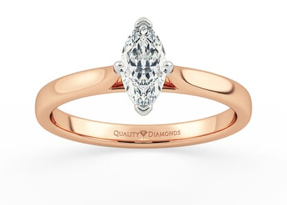 MARQUISE CLARA in 18K ROSE GOLD