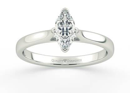 MARQUISE CLARA in 18K WHITE GOLD