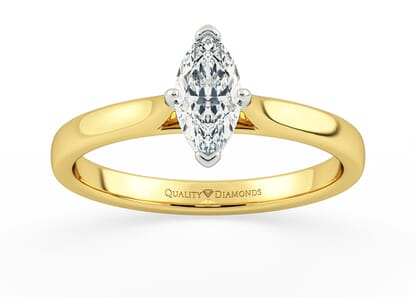 MARQUISE CLARA in 18K YELLOW GOLD