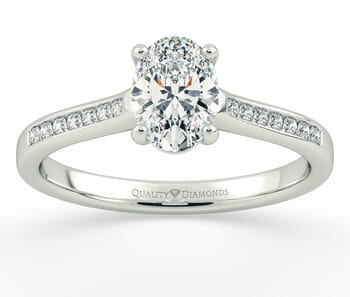 Diamond Set Engagement Ring in Platinum
