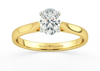 OVAL ROMANTICO in 18K YELLOW GOLD