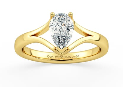 PEAR AURELIA in 18K YELLOW GOLD