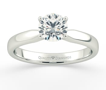 Tiffany Style Solitaire Diamond Engagement Ring in Palladium