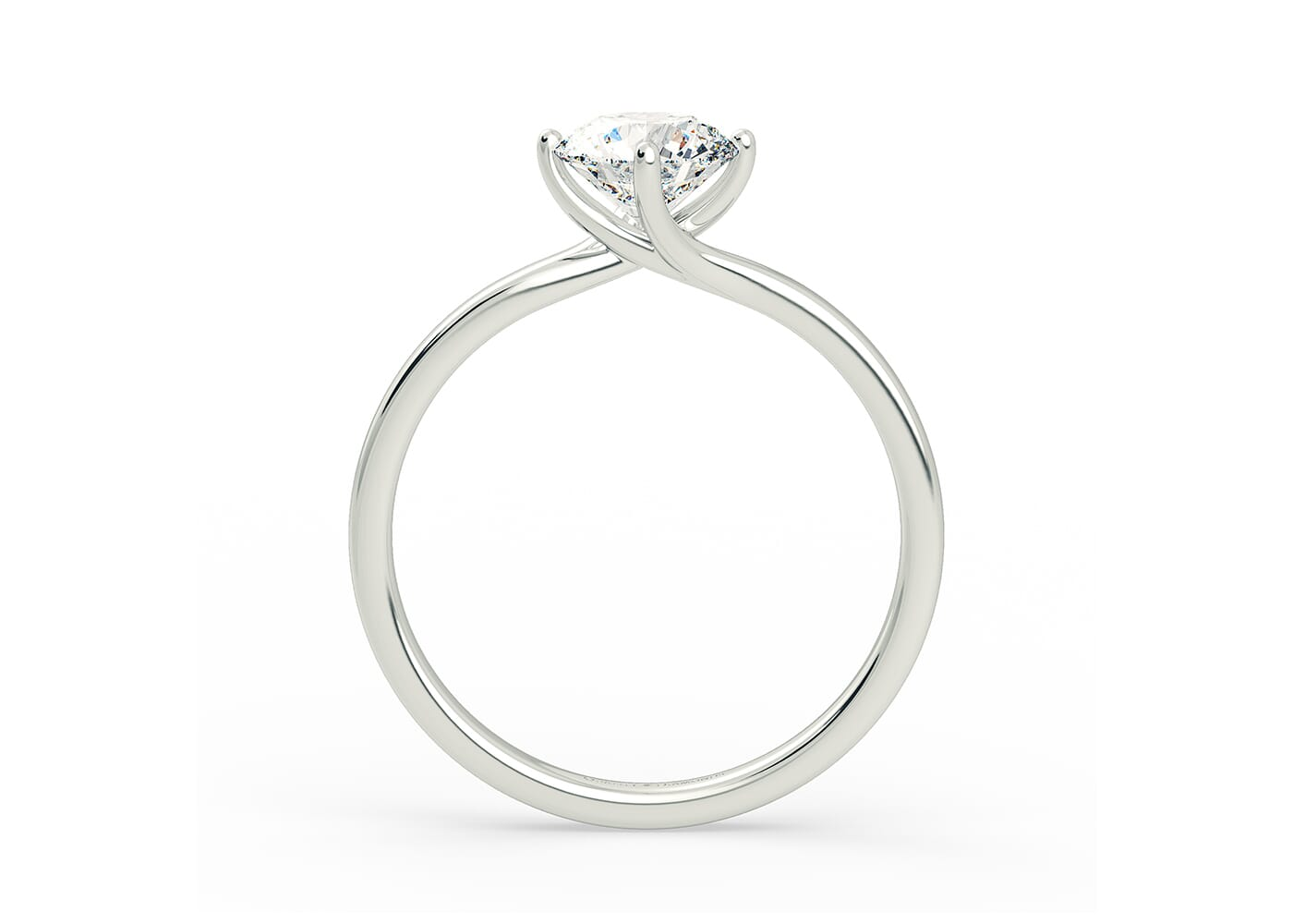 Abbracio Contemporary Diamond Engagement Ring