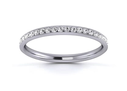 2mm  Wedding Ring in Platinum