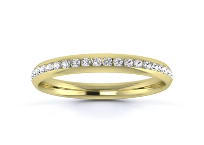 2.5mm  wedding ring in 18k yellow gold