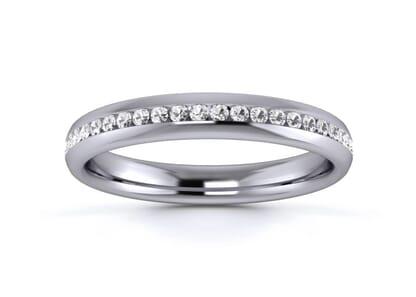 3mm  Wedding Ring in Platinum