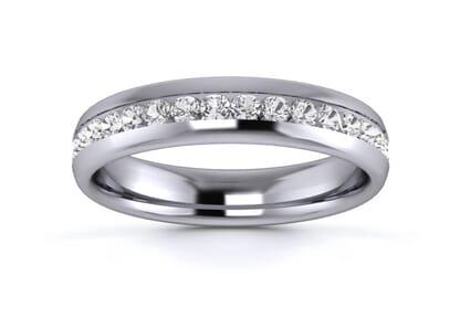 4mm  Wedding Ring in Platinum