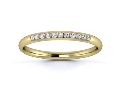 2mm  wedding ring in 18k yellow gold