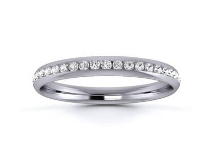 2.5mm  wedding ring in palladium