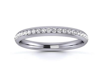 2.5mm  Wedding Ring in Palladium