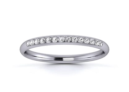 2mm  wedding ring in 18k white gold