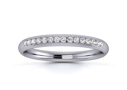 2.5mm  Wedding Ring in Platinum