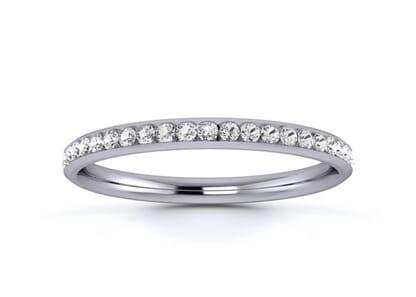 2mm  wedding ring in palladium