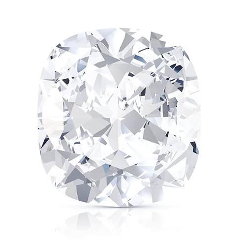 Cushion, 0.50 Carat, F, IF GIA Diamond