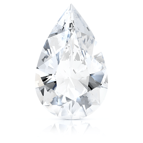 Pear, 3.04 Carat, D, SI1 GIA Diamond