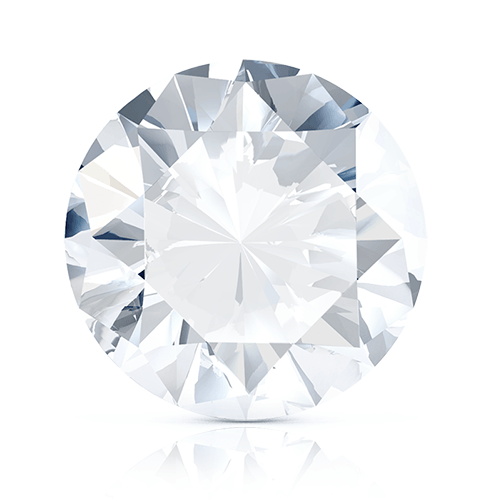 Round Brilliant, 0.51 Carat, D, VVS1 GIA Diamond