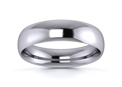 5mm Traditional Court  Wedding Ring in platinum