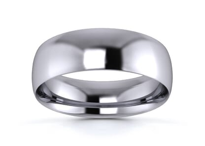 6mm traditional court  wedding ring in palladium